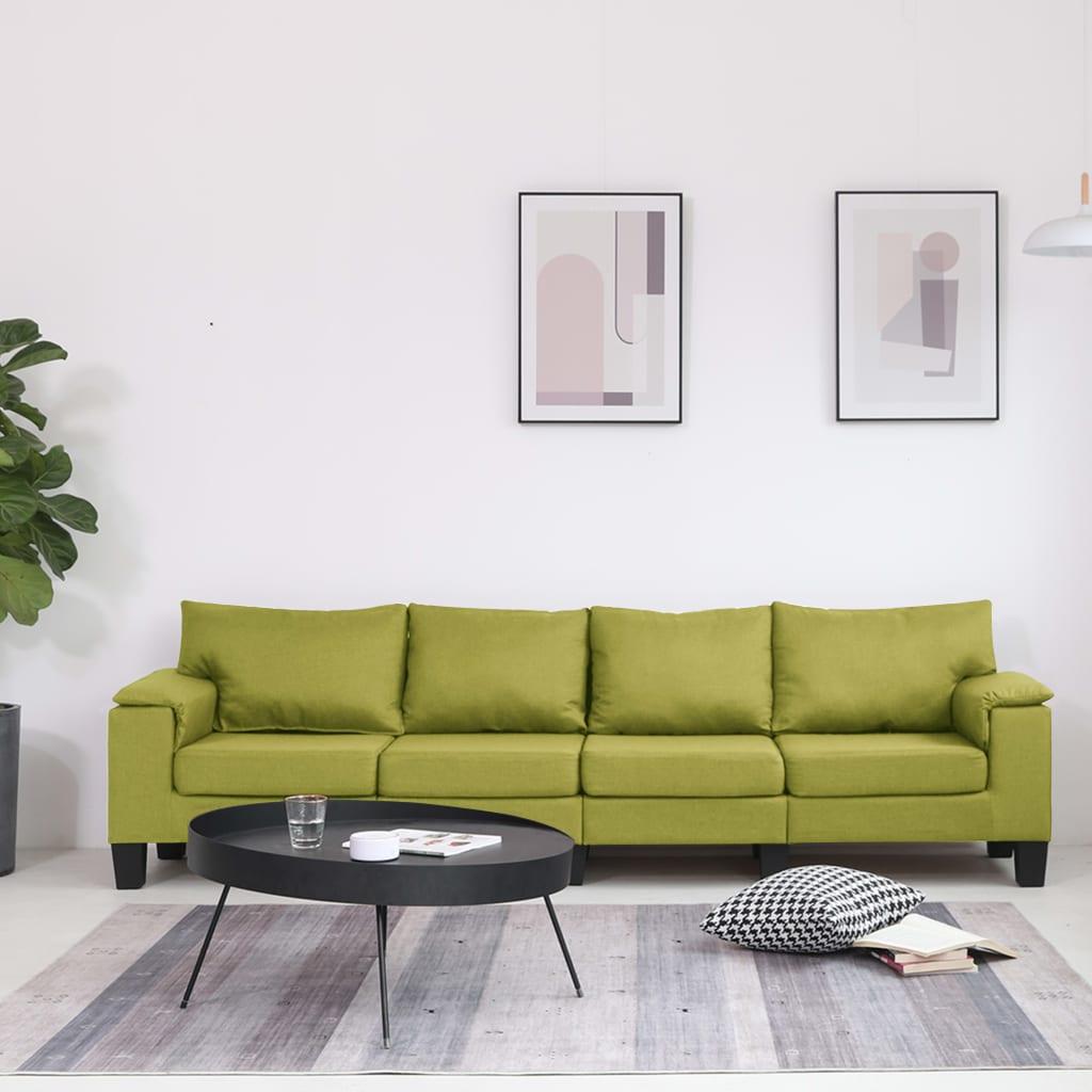Neljakohaline diivan, roheline, kangas