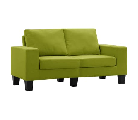 vidaXL Tweezitsbank stof groen[2/9]