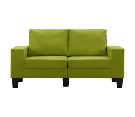 vidaXL Tweezitsbank stof groen[3/9]