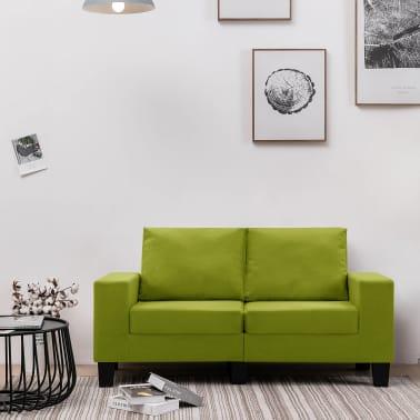 vidaXL Tweezitsbank stof groen[1/9]