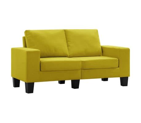 vidaXL 2místná pohovka žlutá textil