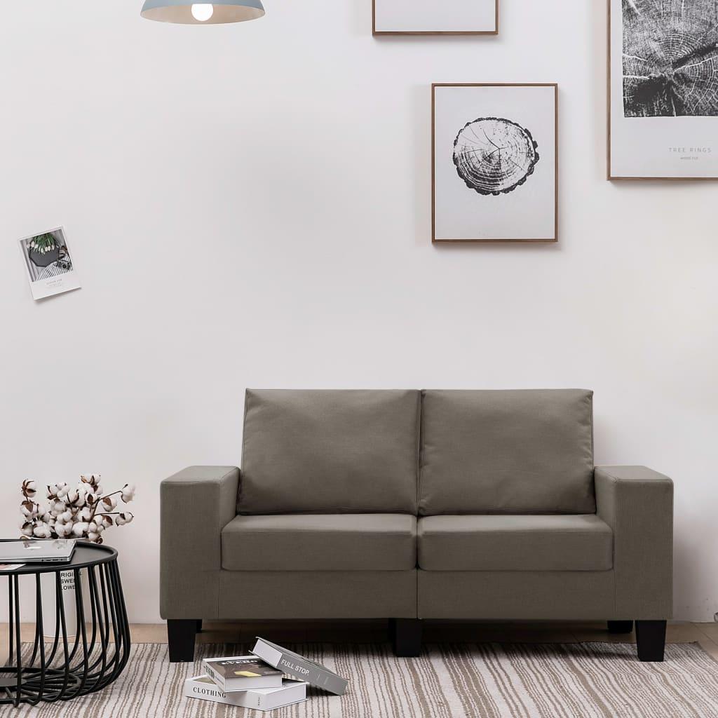 2-Sitzer-Sofa Taupe Stoff