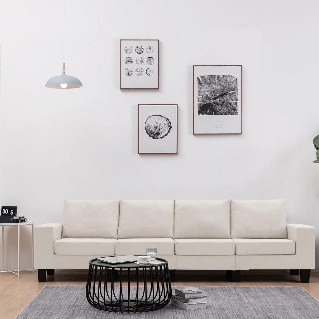 Canapé 4 places Tissu Moderne Confort
