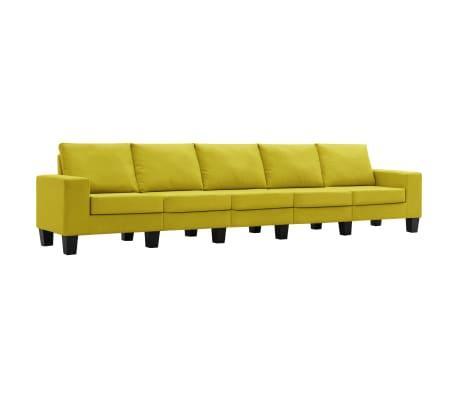 vidaXL 5místná pohovka žlutá textil