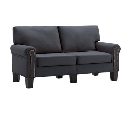 vidaXL 2-Seater Sofa Dark Grey Fabric