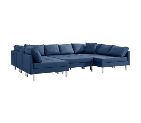 vidaXL Canapea modulară, albastru, material textil