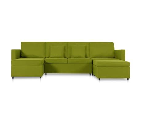 vidaXL Slaapbank uittrekbaar 4-zits stof groen[3/8]
