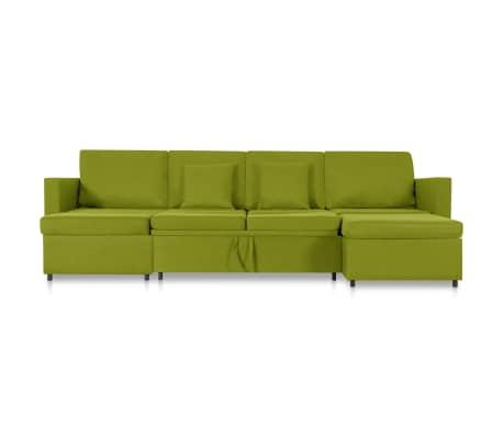 vidaXL Slaapbank uittrekbaar 4-zits stof groen[4/8]
