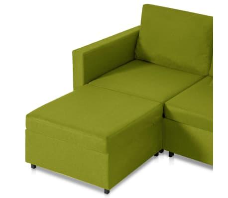 vidaXL Slaapbank uittrekbaar 4-zits stof groen[6/8]