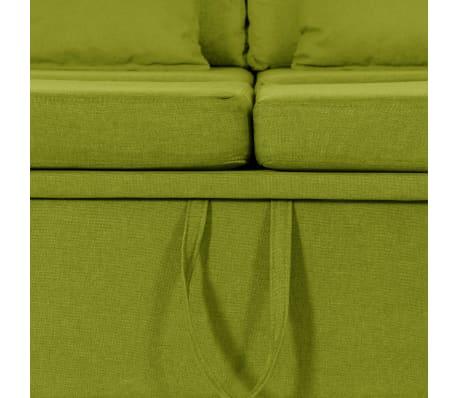 vidaXL Slaapbank uittrekbaar 4-zits stof groen[7/8]