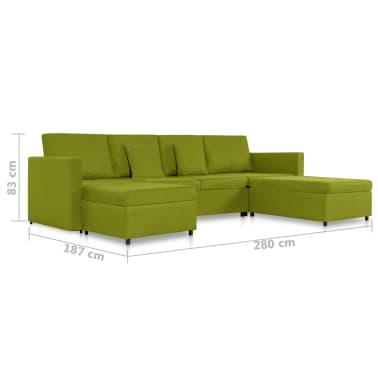 vidaXL Slaapbank uittrekbaar 4-zits stof groen[8/8]