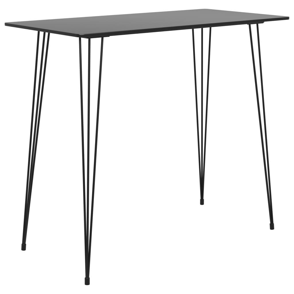 Barový stůl černý 120x60x105 cm