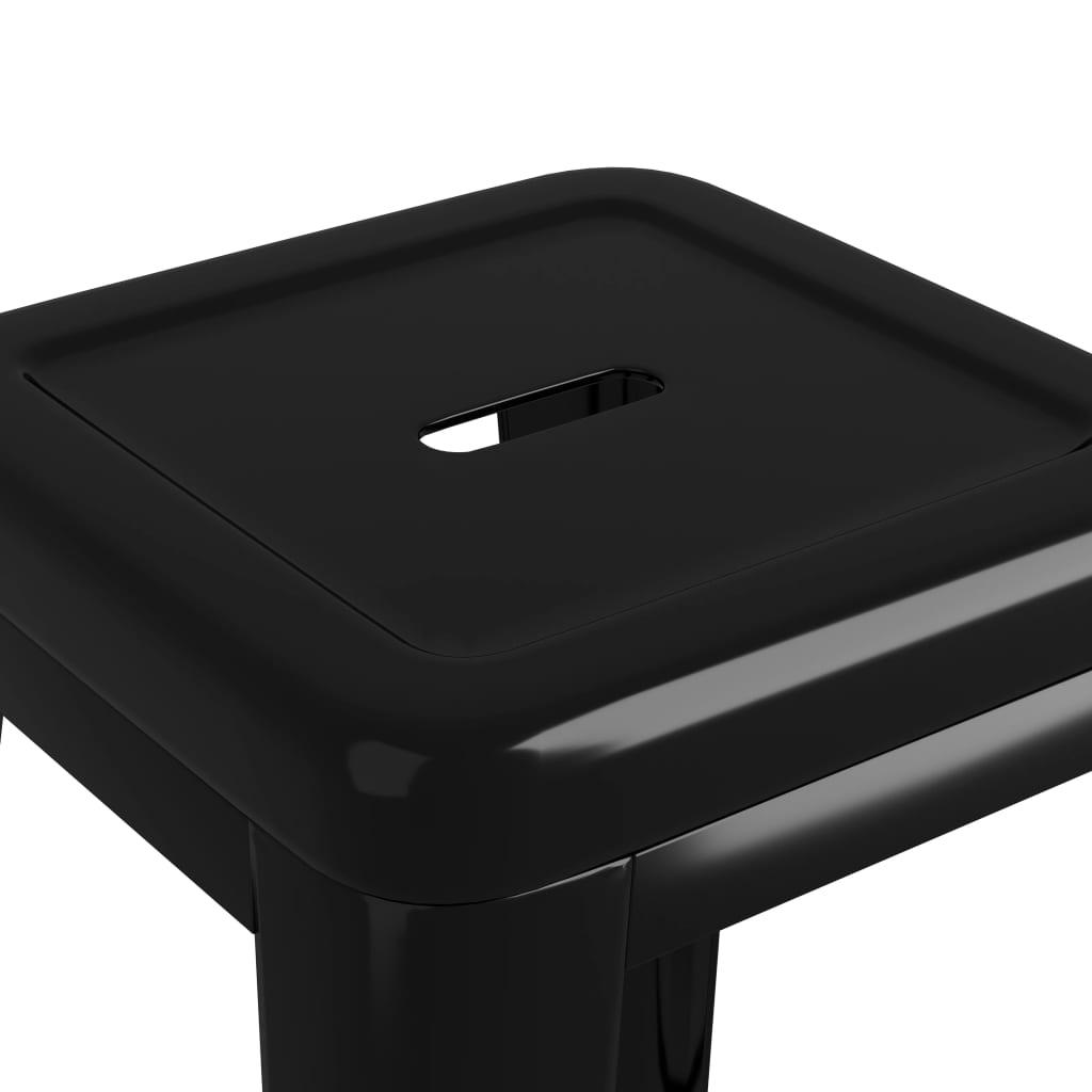 vidaXL Barkrukken stapelbaar 2 st metaal zwart