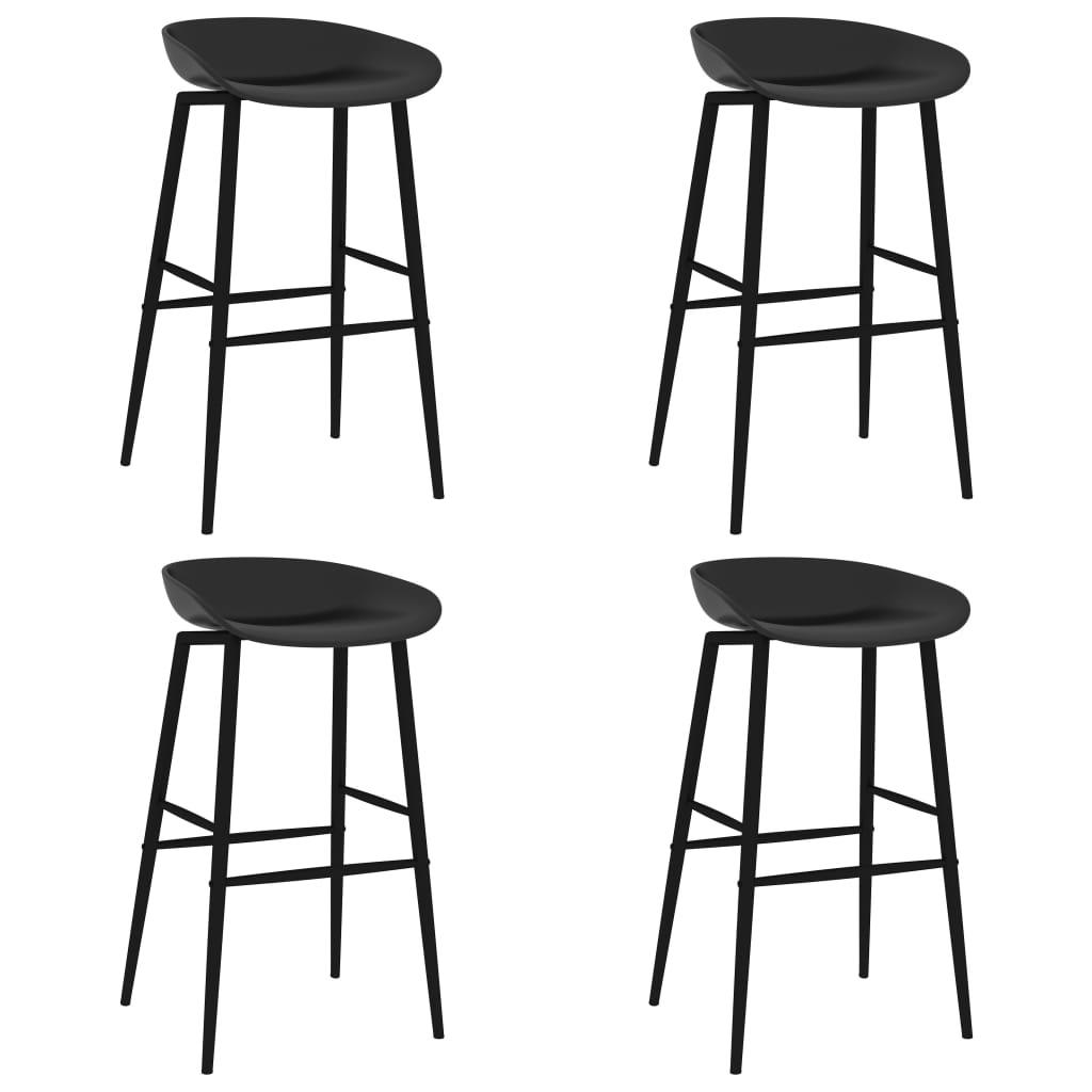 vidaXL Scaune de bar, 4 buc., negru poza 2021 vidaXL