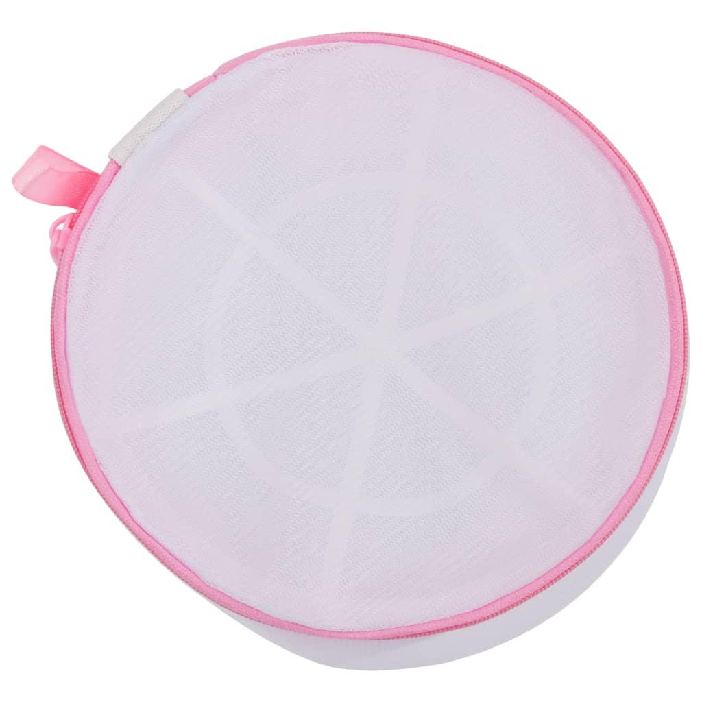 3-delige Waszakkenset mesh wit en roze