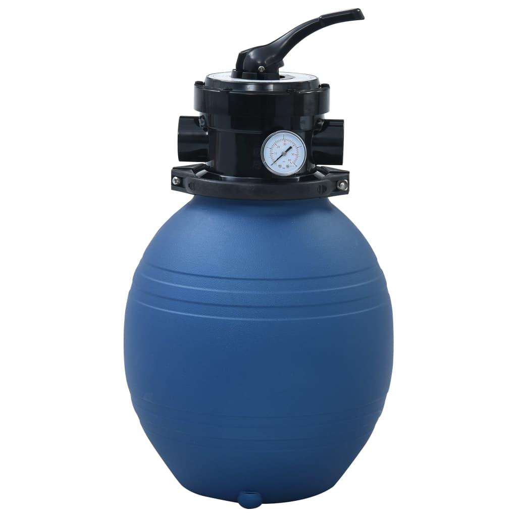vidaXL Filtru cu nisip pentru piscină supapă 4 poziții albastru 300 mm poza vidaxl.ro