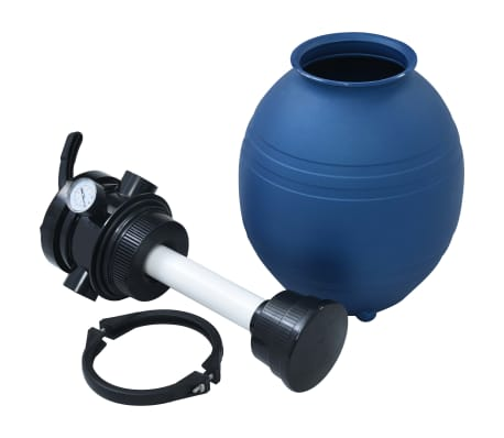 "vidaXL Pool Sand Filter with 4 Position Valve Blue 11.8""[4/7]"