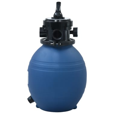 "vidaXL Pool Sand Filter with 4 Position Valve Blue 11.8""[2/7]"