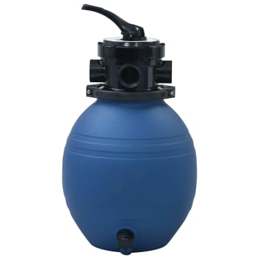 "vidaXL Pool Sand Filter with 4 Position Valve Blue 11.8""[3/7]"