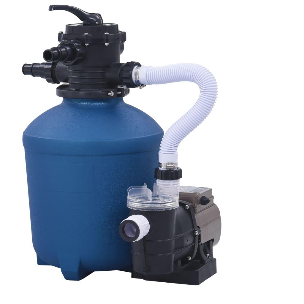 vidaXL Pompă filtru cu nisip, cu temporizator, 530 W, 10980 L/h poza vidaxl.ro