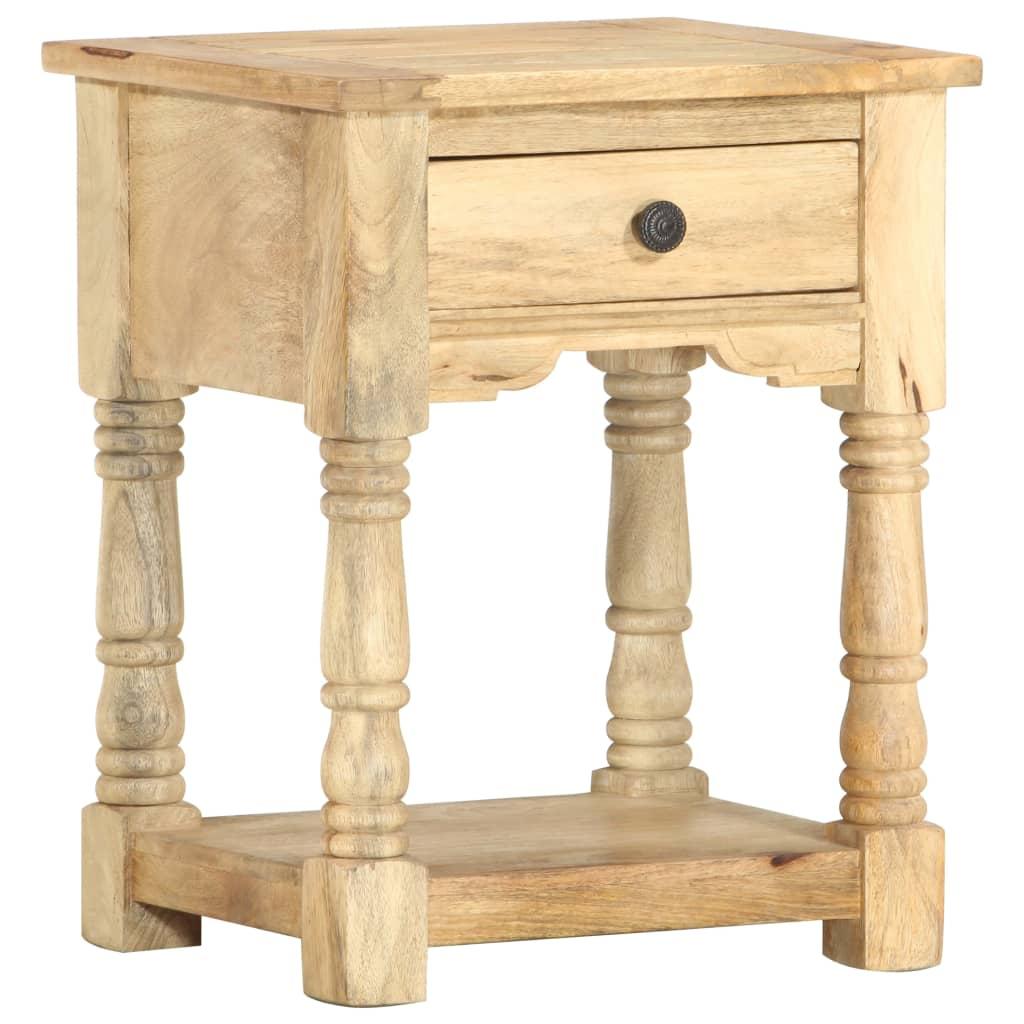 vidaXL Table de chevet 40 x 35 x 50 cm Bois de manguier solide