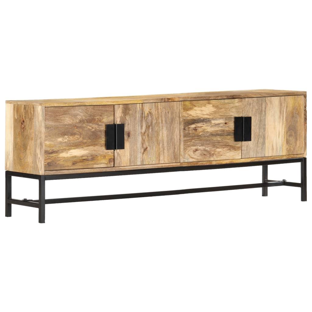 vidaXL Comodă TV, 140 x 30 x 50 cm, lemn masiv de mango poza 2021 vidaXL