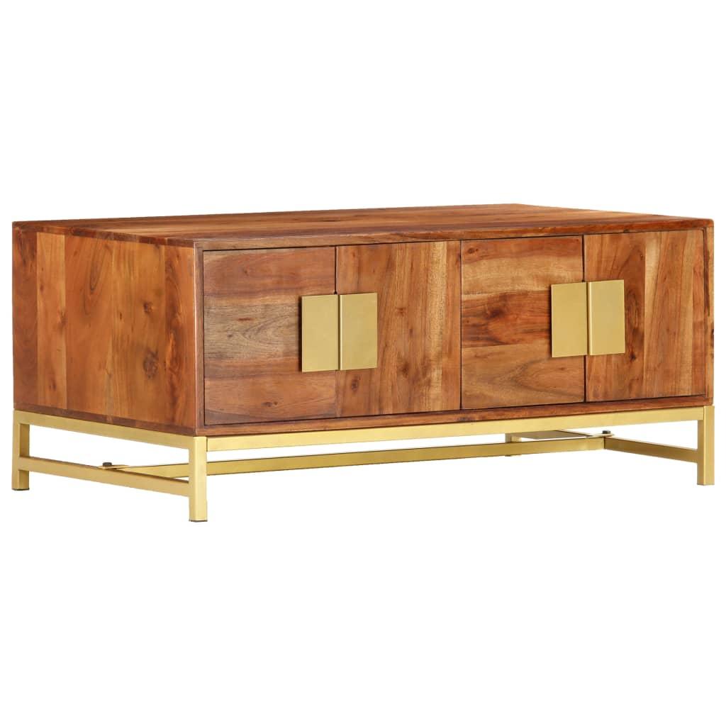 vidaXL Table basse 90x55x40 cm Bois d'acacia massif