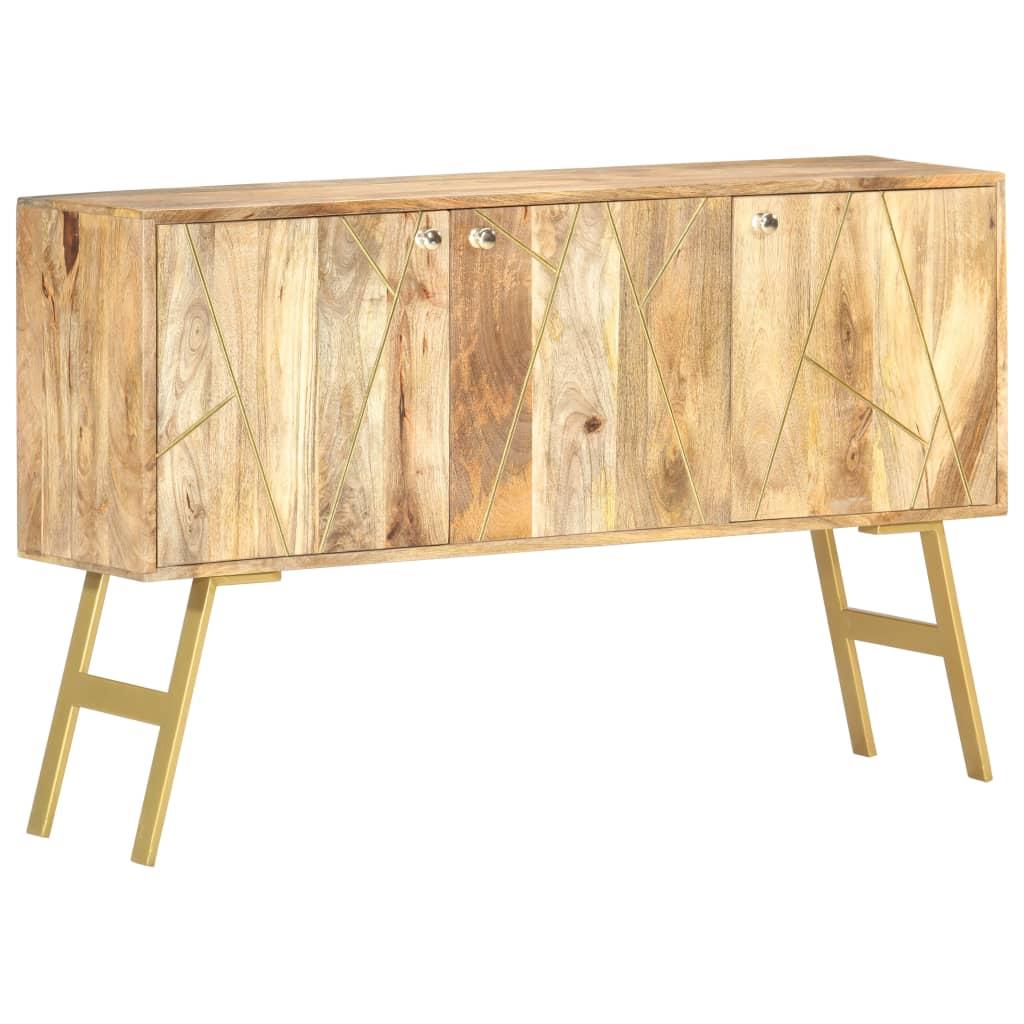 vidaXL Servantă, 118 x 30 x 75 cm, lemn masiv de mango imagine vidaxl.ro