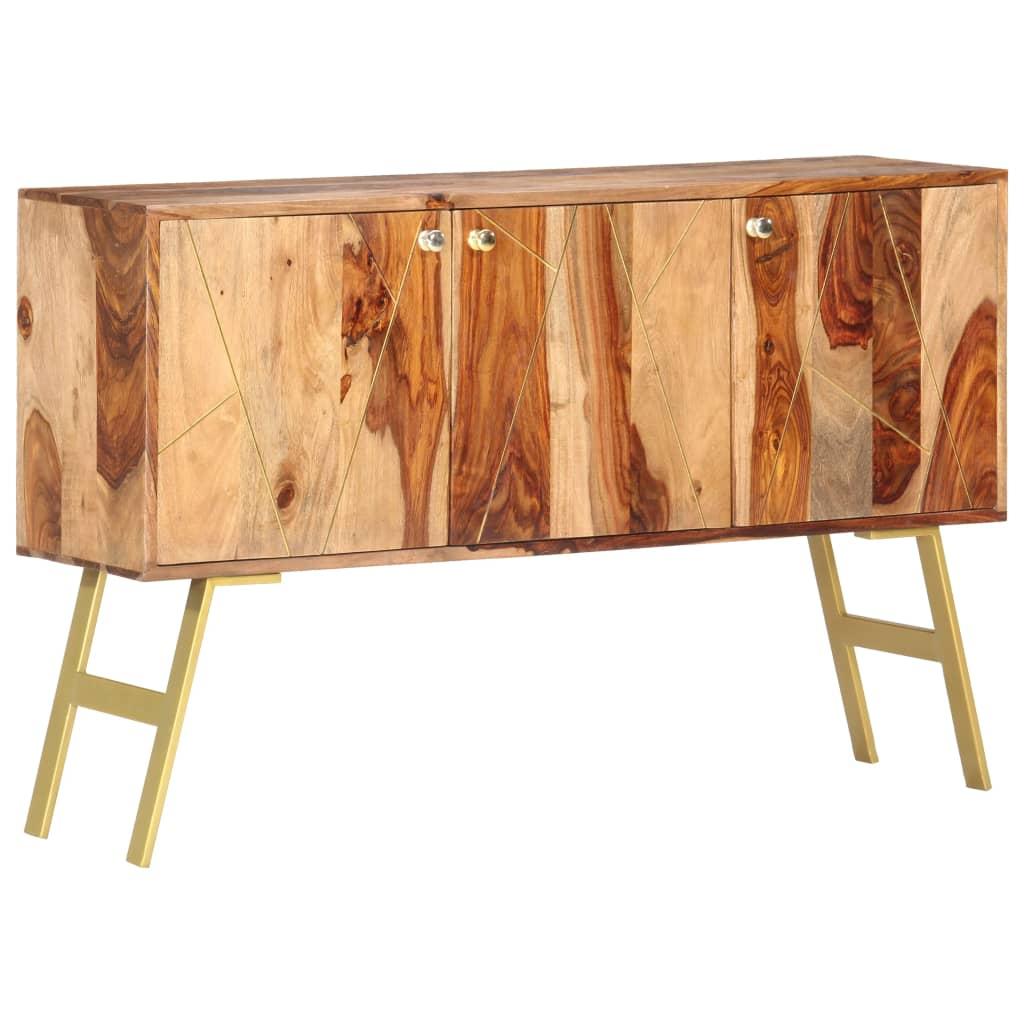 vidaXL Servantă, 118 x 30 x 75 cm, lemn masiv de sheesham imagine vidaxl.ro