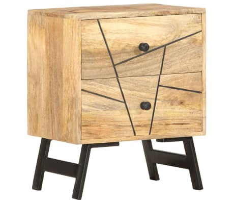 vidaXL Noptieră, 40 x 30 x 50 cm, lemn masiv de mango