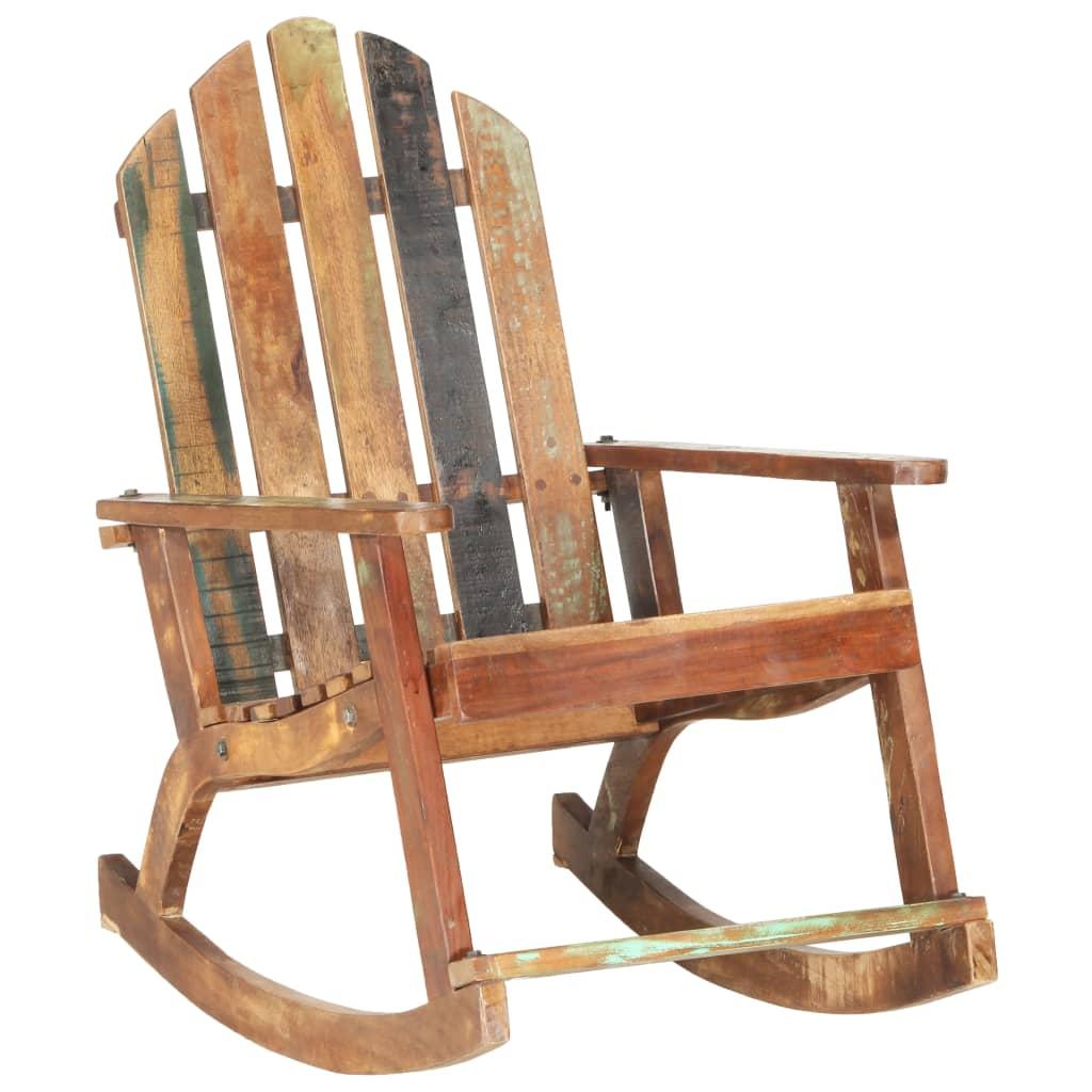vidaXL Scaun balansoar de grădină, lemn masiv reciclat imagine vidaxl.ro