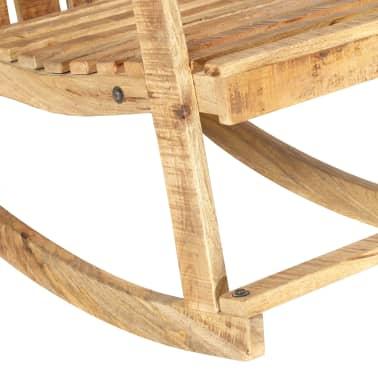 vidaXL Scaun balansoar de grădină, lemn masiv de mango[6/11]