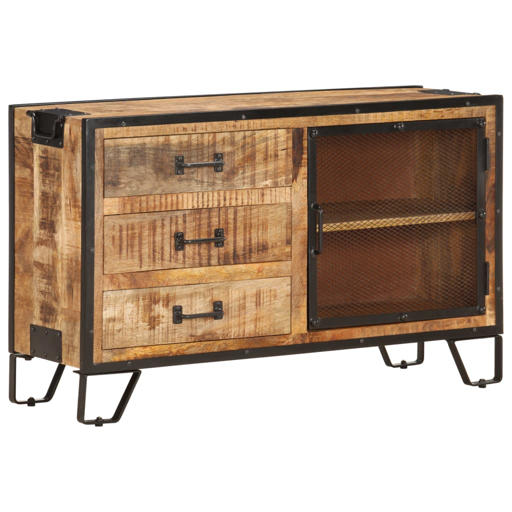 vidaXL Servantă, 100 x 31 x 60 cm, lemn masiv de mango nefinisat poza vidaxl.ro