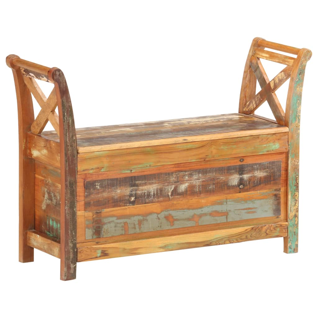 vidaXL Bancă de hol, 103 x 33 x 72 cm, lemn masiv reciclat poza vidaxl.ro