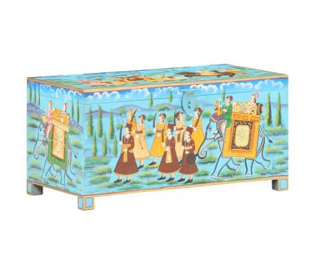 vidaXL Opbergbox handgeschilderd 80x40x40 cm massief mangohout