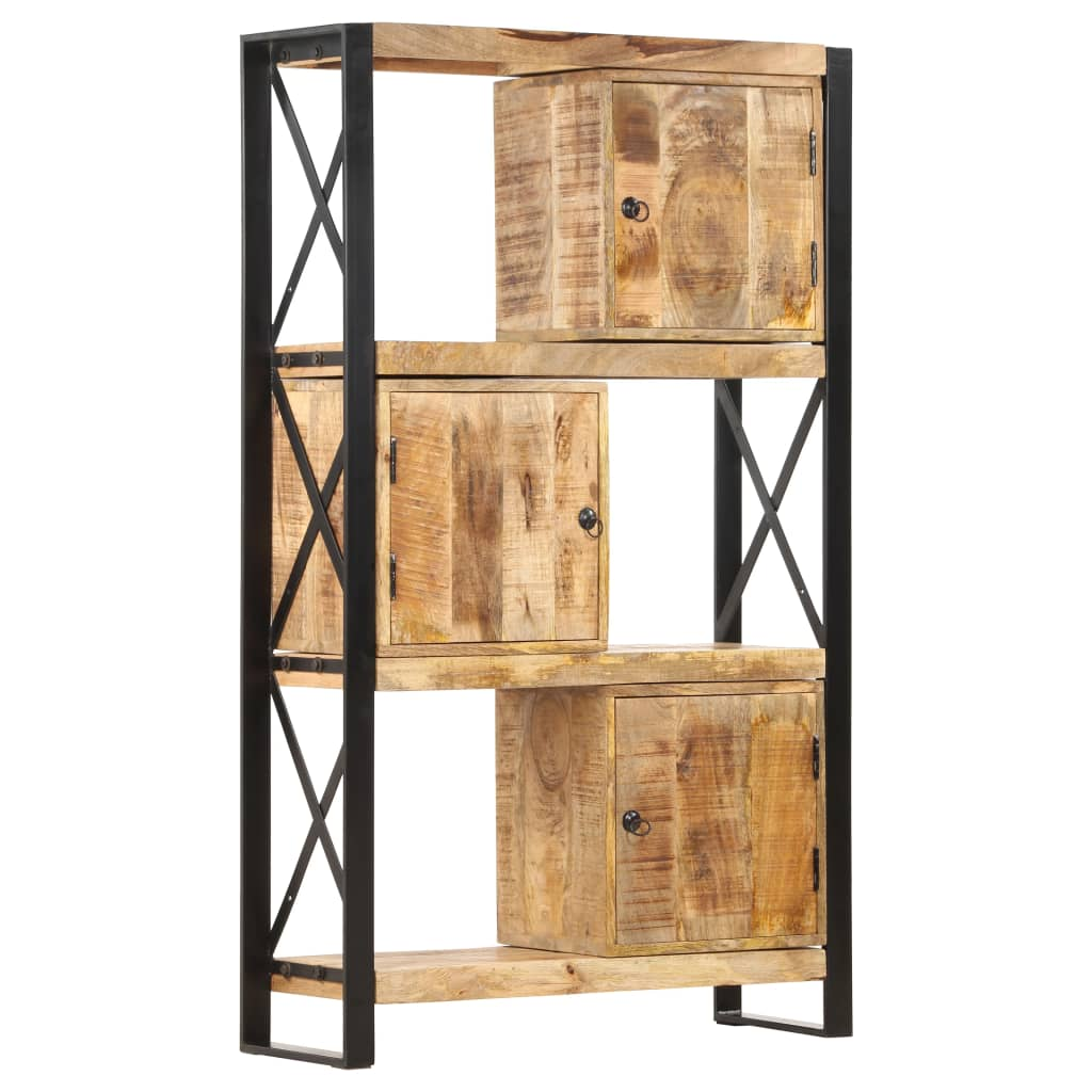 vidaXL Bibliotecă, 90 x 30 x 150 cm, lemn masiv de mango poza vidaxl.ro