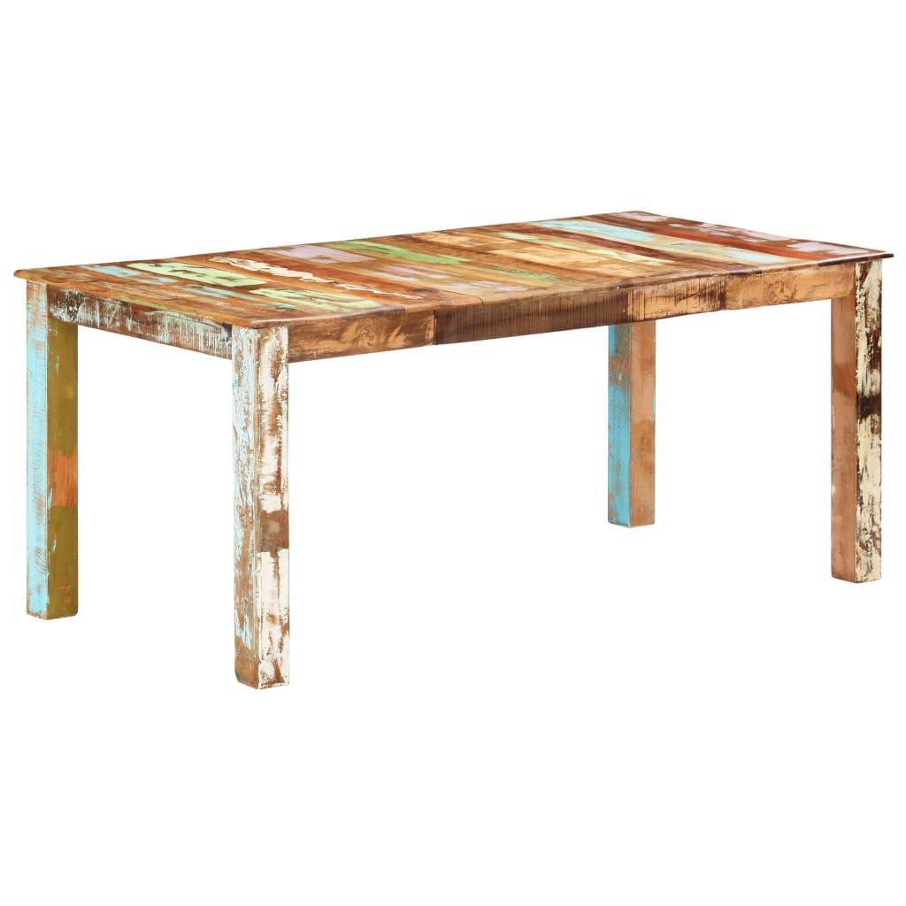 vidaXL Masă de bucătărie, 180 x 90 x 76 cm, lemn masiv reciclat poza vidaxl.ro
