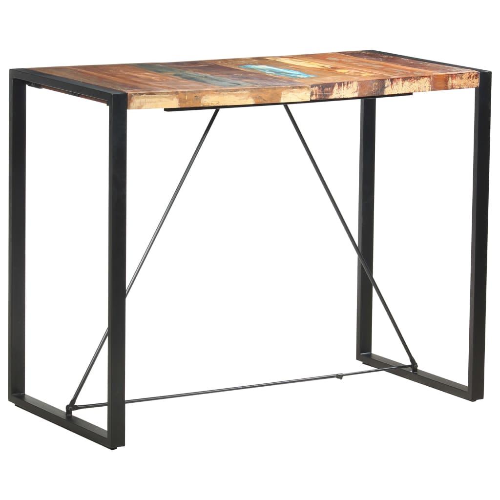 vidaXL Masă de bar, 140 x 70 x 110 cm, lemn masiv reciclat vidaxl.ro