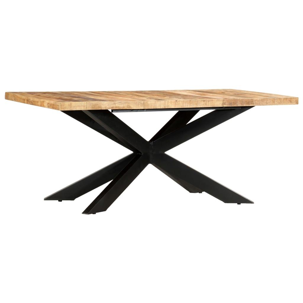 vidaXL Masă de bucătărie, 180x90x76 cm, lemn masiv de mango nefinisat vidaxl.ro