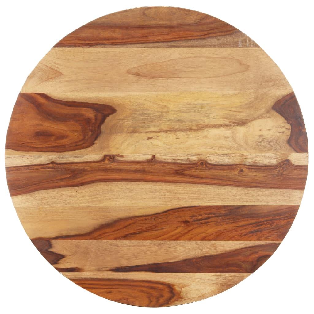 vidaXL Blat de masă, 70 cm, lemn masiv sheesham, rotund, 25-27 mm poza vidaxl.ro
