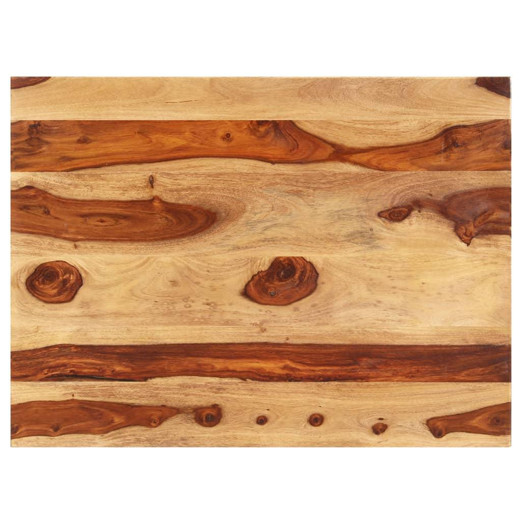 Stolní deska masivní sheeshamové dřevo 15–16 mm 60 x 90 cm
