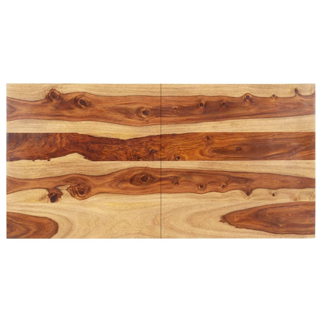 vidaXL Blat de masă, 60x140 cm, lemn masiv sheesham, 15-16 mm poza vidaxl.ro