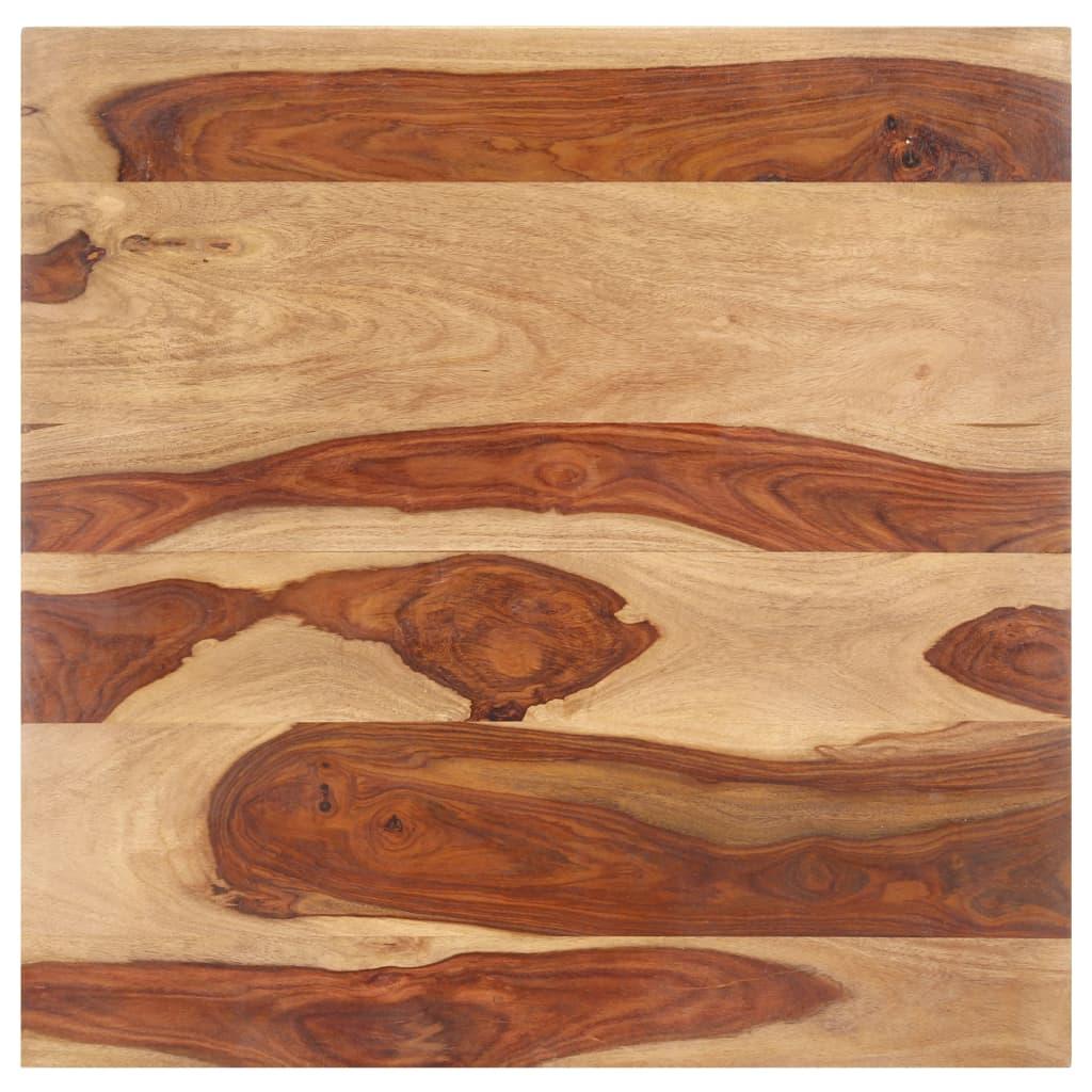 vidaXL Blat de masă, 70x70 cm, lemn masiv sheesham, 15-16 mm poza vidaxl.ro