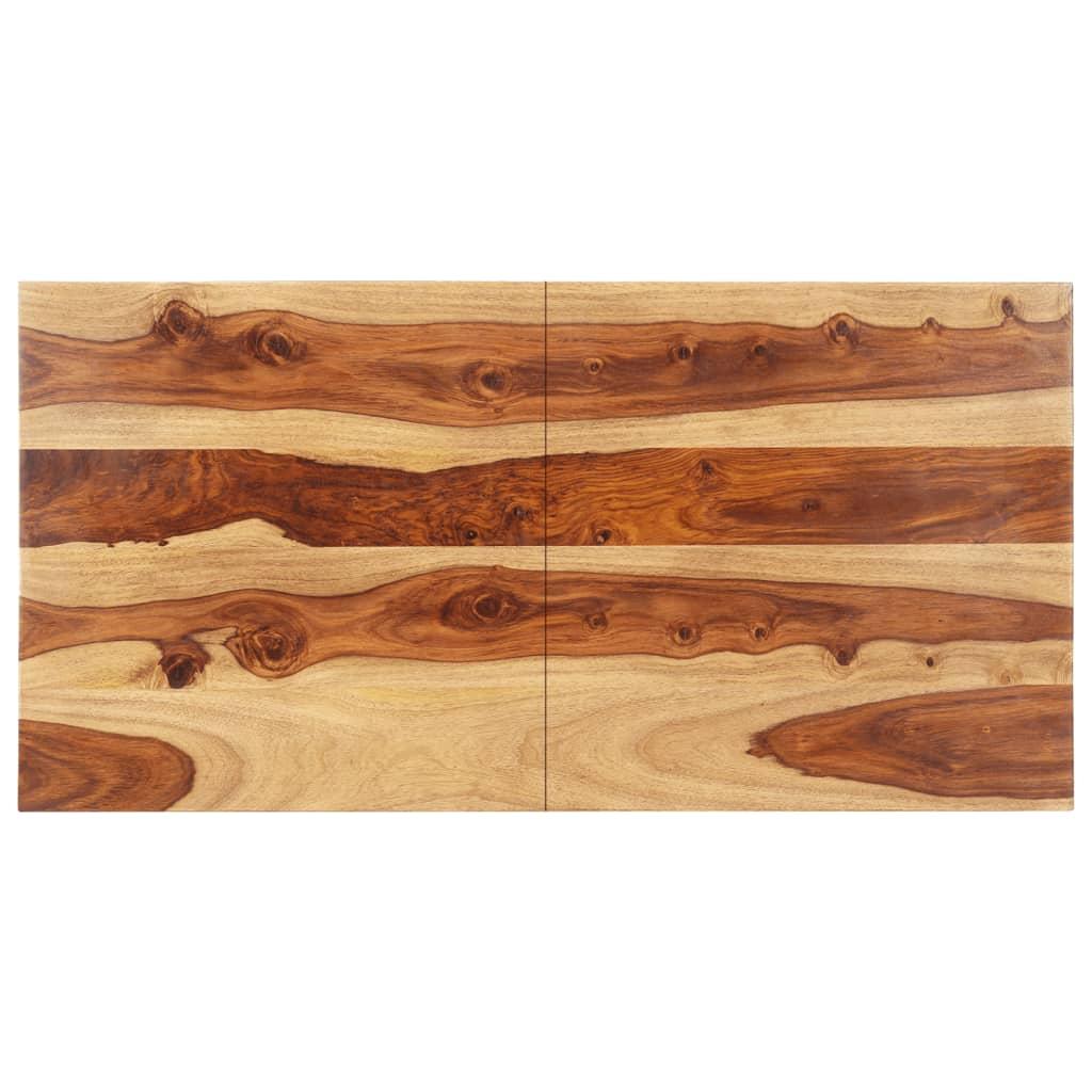 vidaXL Blat de masă, 60 x 140 cm, lemn masiv sheesham, 25-27 mm poza vidaxl.ro