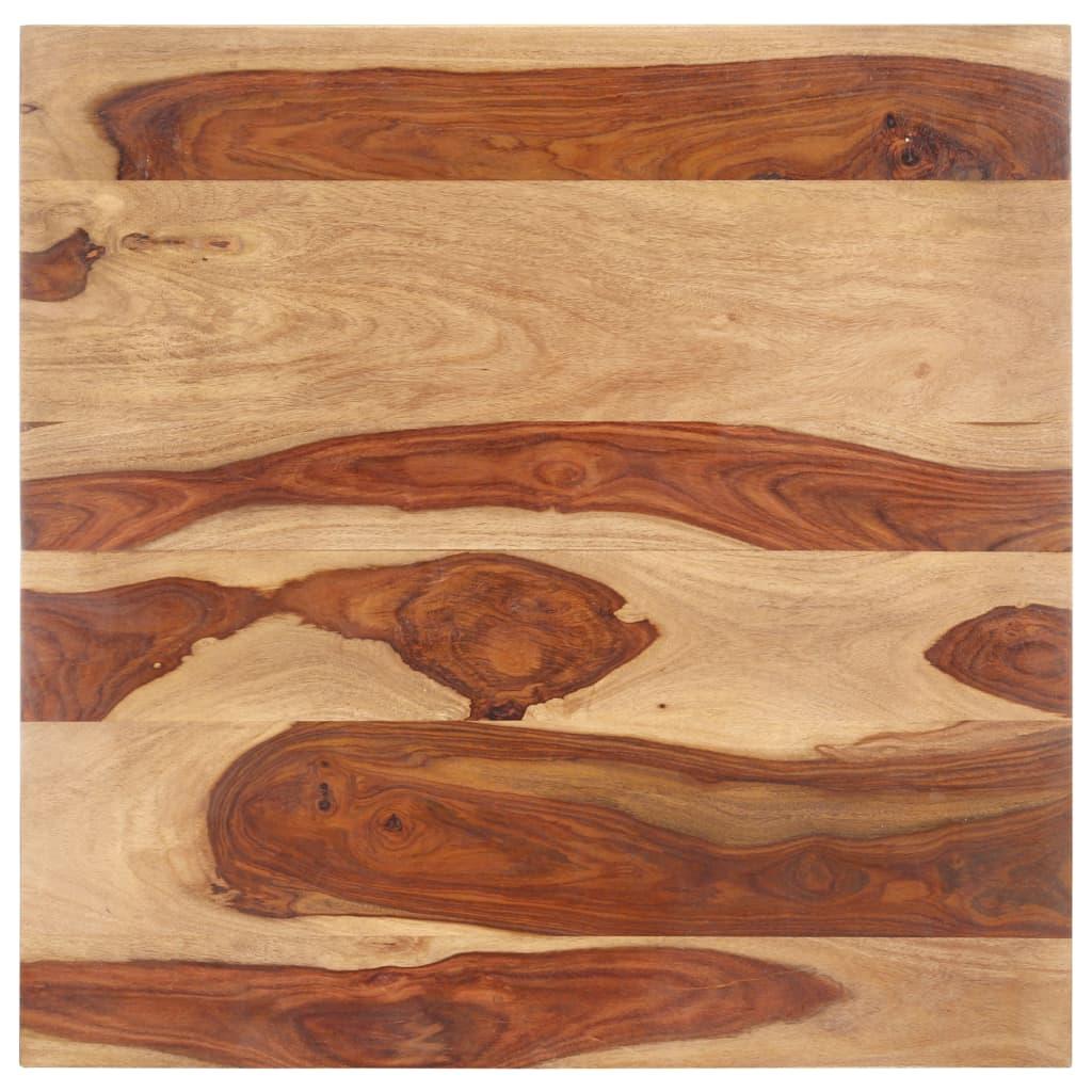 vidaXL Blat de masă, 80 x 80 cm, lemn masiv de sheesham, 25-27 mm vidaxl.ro