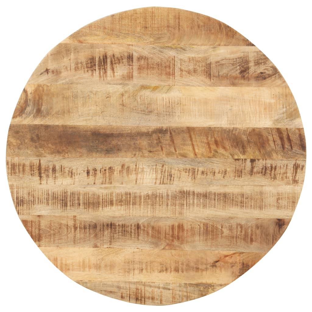 vidaXL Blat de masă, 70 cm, lemn masiv de mango, rotund, 15-16 mm imagine vidaxl.ro