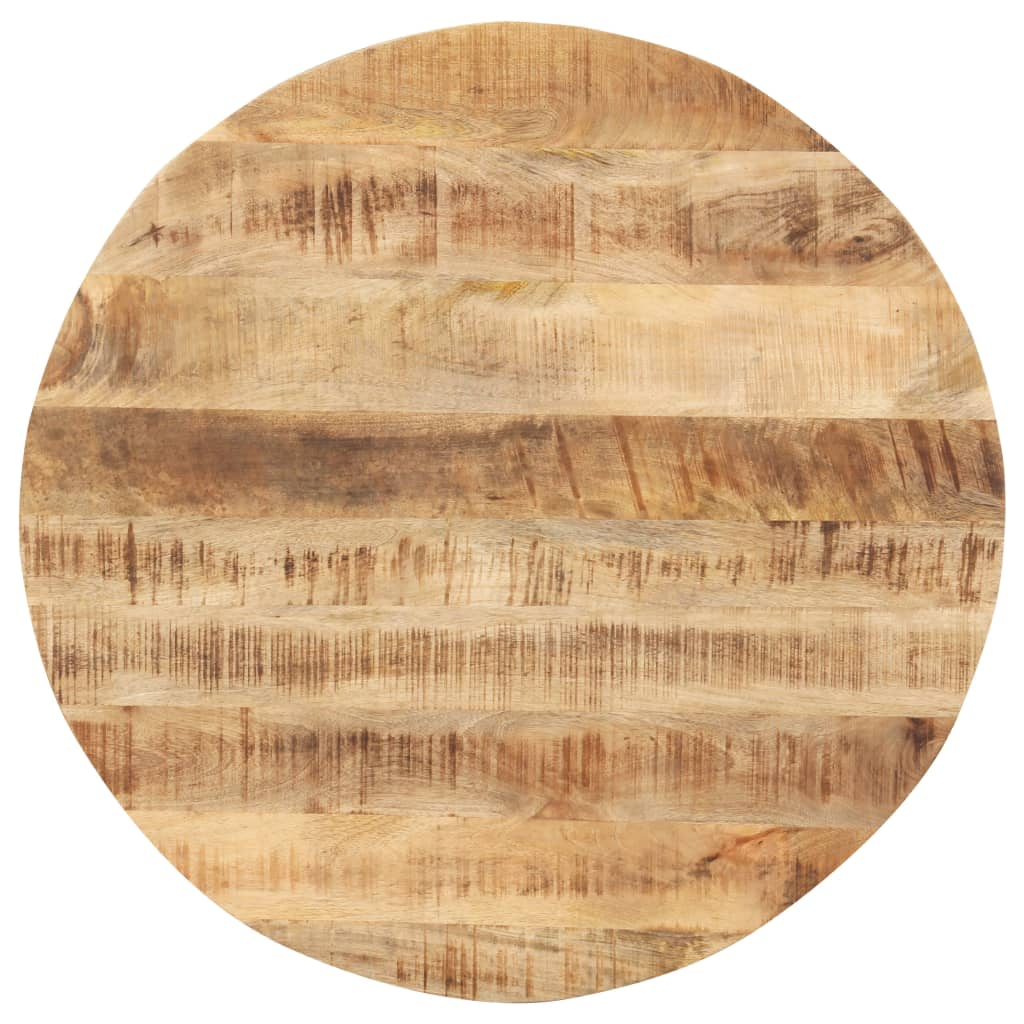 vidaXL Blat de masă, 80 cm, lemn masiv de mango, rotund, 15-16 mm imagine vidaxl.ro
