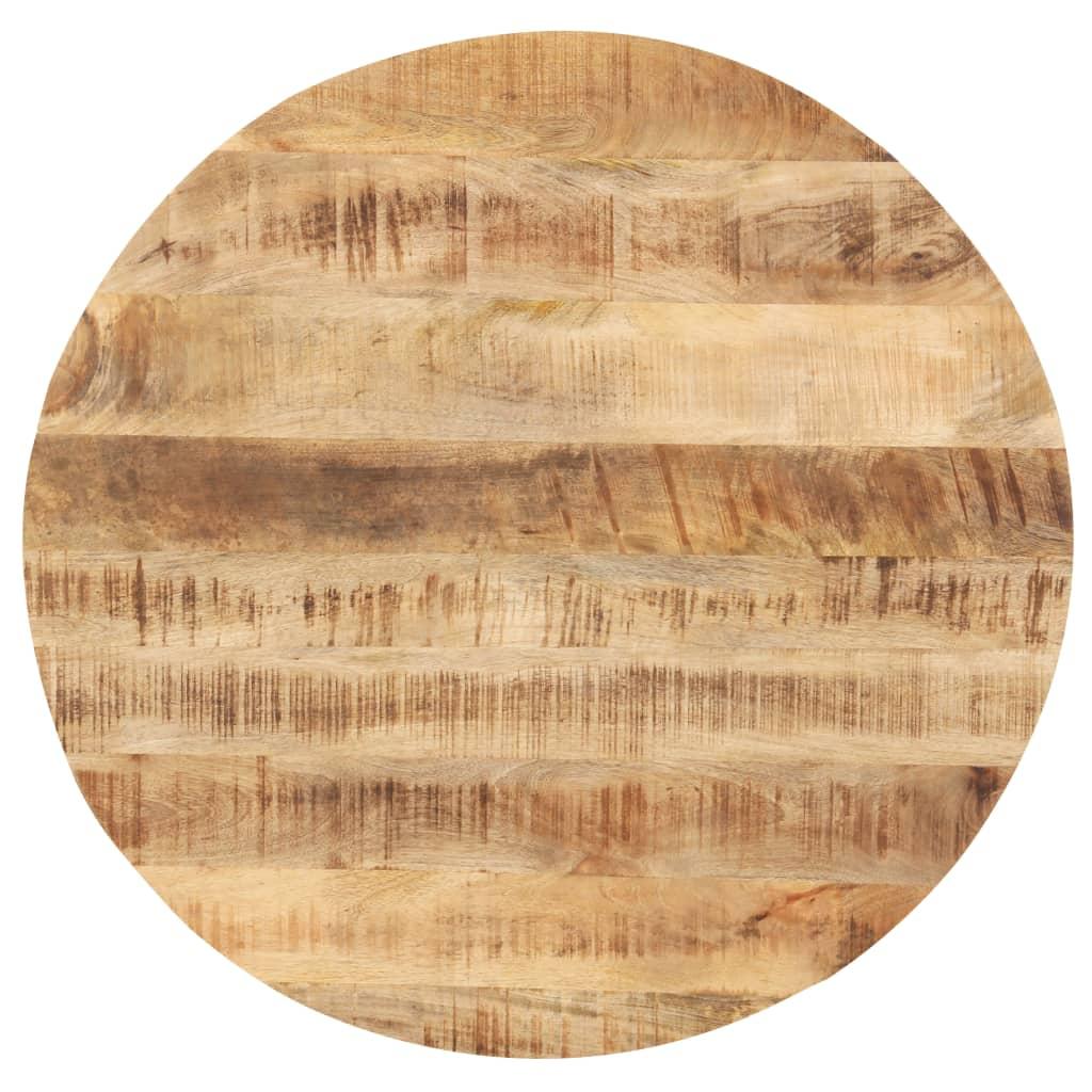 vidaXL Tischplatte Massivholz Mango Rund 25-27 mm 70 cm
