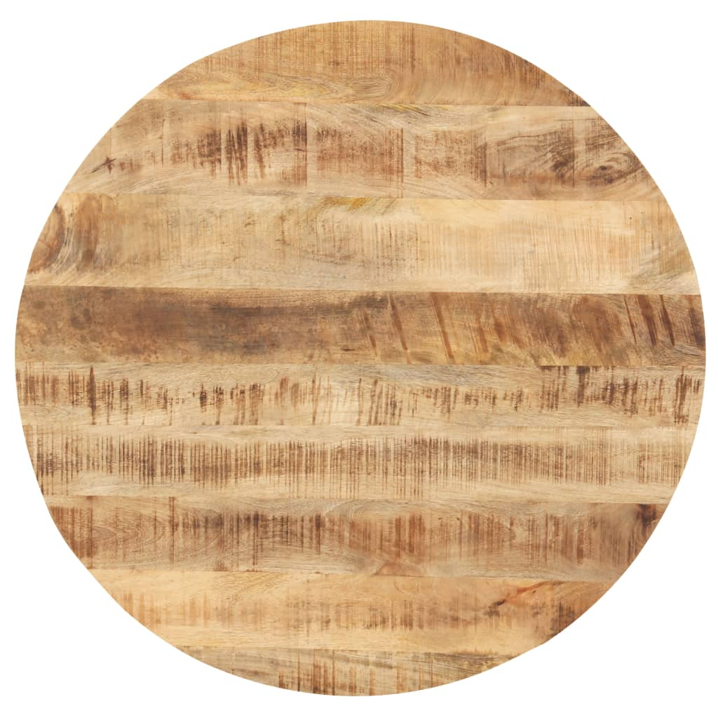 vidaXL Blat de masă, 70 cm, lemn masiv mango, rotund, 25-27 mm poza vidaxl.ro