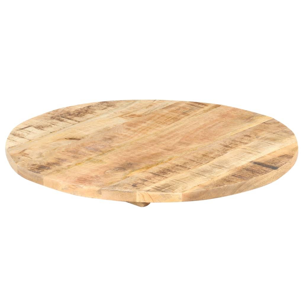 vidaXL Stolna ploča od masivnog drva manga okrugla 25 - 27 mm 80 cm